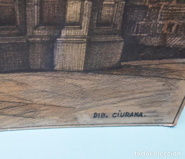 Arte: DIBUJO DE CIURANA ESTUDIO PARA PONER EN VALOR EL RECINTO ROMANO DE BARCELONA CIUDAD ANTIGUA - Foto 3 - 206567492