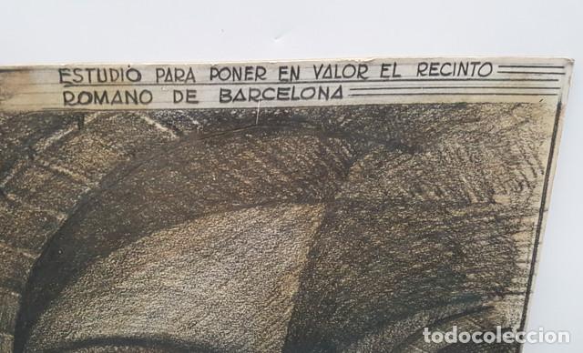 Arte: DIBUJO DE CIURANA ESTUDIO PARA PONER EN VALOR EL RECINTO ROMANO DE BARCELONA CIUDAD ANTIGUA - Foto 4 - 206567492