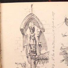 Arte: FILIPPO MONTEVERDE (1846-1920) - CUADERNO DE DIBUJOS - ZARAZALEJO, SANTILLANA, TREVIÑO, AÑASTRO - 18. Lote 206580653