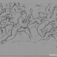 Arte: == DIBUJO A LAPIZ DE A. VIDAL SALICHS - 1960 - MEDIDAS 20 X 14 CM. PINTOR CATALÁN - LLORET D. Lote 206909206