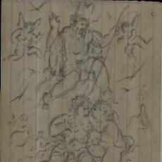 Arte: == DIBUJO A LAPIZ DE A. VIDAL SALICHS - 1960 - MEDIDAS 13 X 10 CM. PINTOR CATALÁN - LLORET D. Lote 206909602