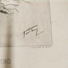 Arte: GRABADO SOBRE UN DIBUJO A PLUMA DE FORTUNY REALIZADO POR MI. SEGUÍ. MEDIDAS 17 X 25 CM. Lote 206926746