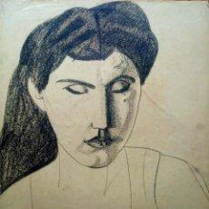 Arte: JORDI CURÓS CERAS/PAPEL 50 X 35 CM. FIRMADO Y FECHADO 1954.. Lote 206952245