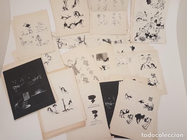 GRAN LOTE DIBUJOS ORIGINALES Y ALGUNOS IMPRESOS DE UN DIBUJANTE LLAMADO NATALIO, (ACUARELA) (Arte - Dibujos - Contemporáneos siglo XX)