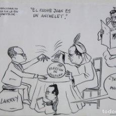 Arte: ILEGIBLE. DIBUJO A TINTA FECHADO DEL AÑO 1967. TITULADO EL PADRE JUAN ES UN ANCHELET. Lote 207098505