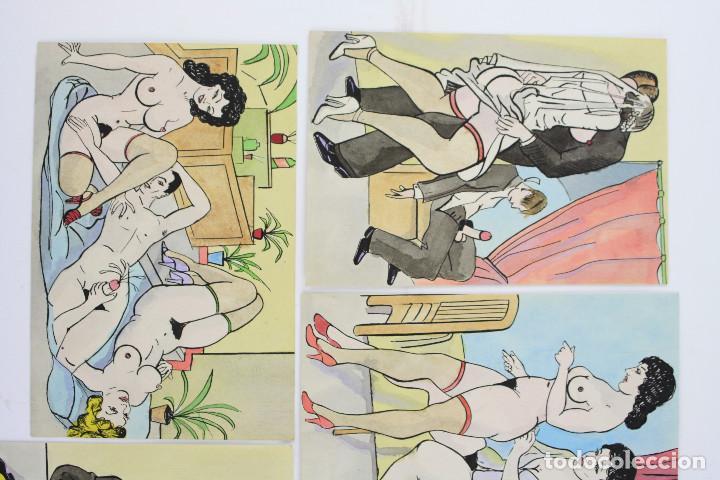 Arte: Erotismo - 5 dibujos eróticos para publicación, 1950s. España. - Foto 3 - 207191585