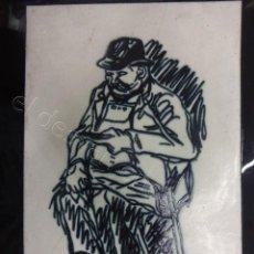 Arte: CUADRO CERÁMICA ESMALTADA FIRMADO NONELL. MED. (INCLUIDO MARCO) 33 X 25 CTMS. Lote 207201813
