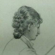 Arte: DIBUJO A CARBONCILLO DE JOSÉ GARNELO. Lote 207407540