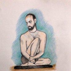 Arte: DESNUDO SENTADO OBRA DE GILABERTE. Lote 207708008