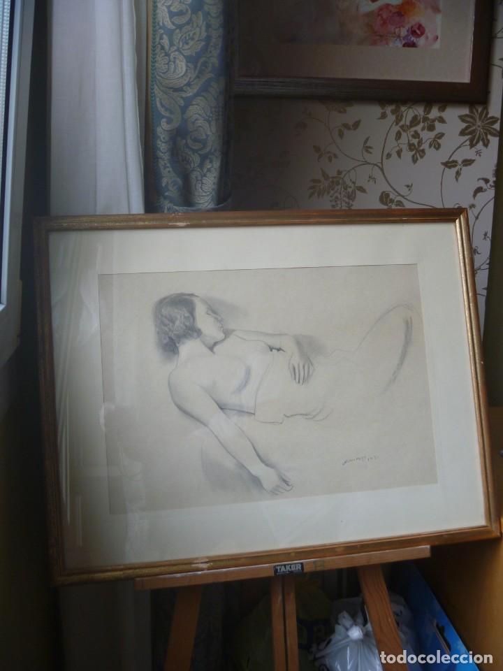 TORSO MUJER DESNUDA GRAN DIBUJO FRANCESC DOMINGO SEGURA (Arte - Dibujos - Contemporáneos siglo XX)