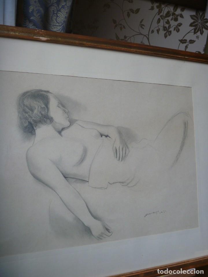 Arte: TORSO MUJER DESNUDA GRAN DIBUJO FRANCESC DOMINGO SEGURA - Foto 2 - 207793525