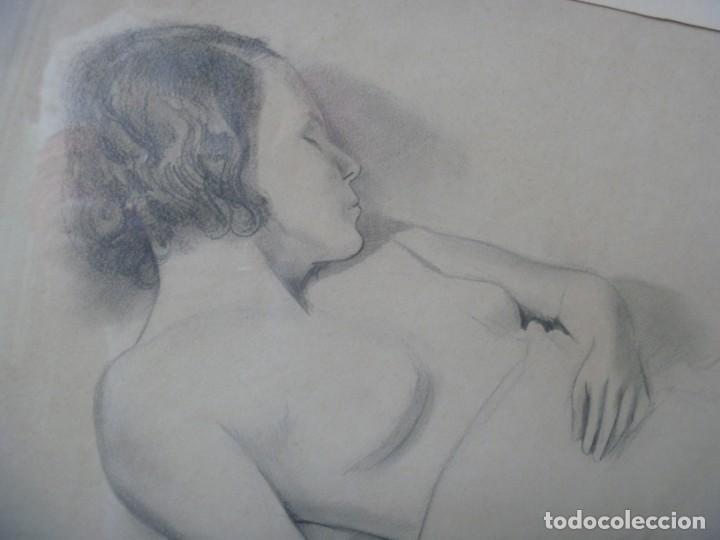 Arte: TORSO MUJER DESNUDA GRAN DIBUJO FRANCESC DOMINGO SEGURA - Foto 3 - 207793525