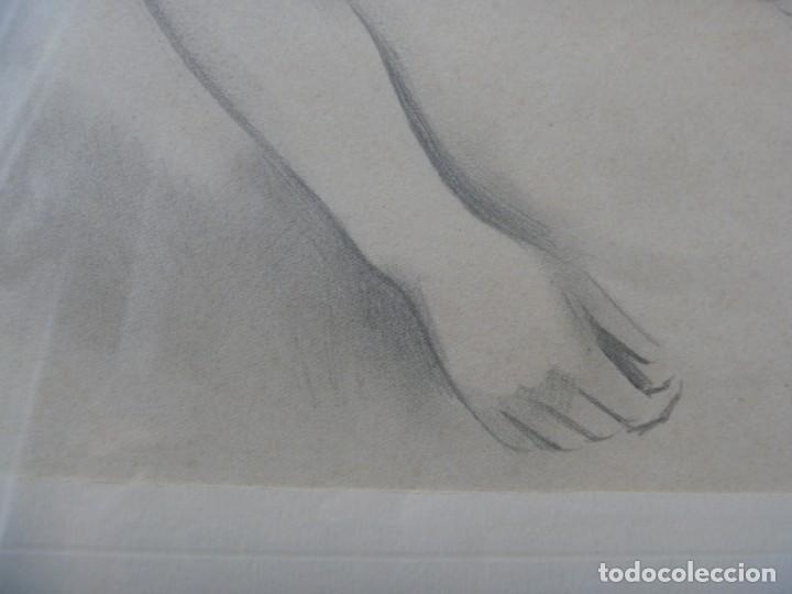 Arte: TORSO MUJER DESNUDA GRAN DIBUJO FRANCESC DOMINGO SEGURA - Foto 5 - 207793525