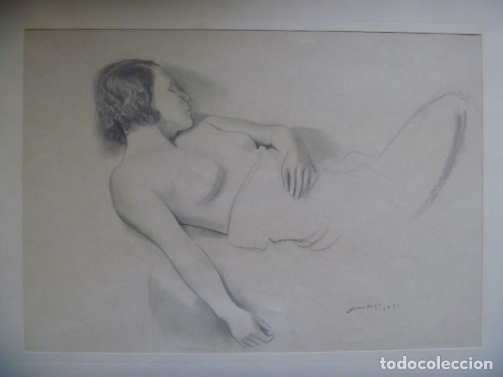 Arte: TORSO MUJER DESNUDA GRAN DIBUJO FRANCESC DOMINGO SEGURA - Foto 7 - 207793525