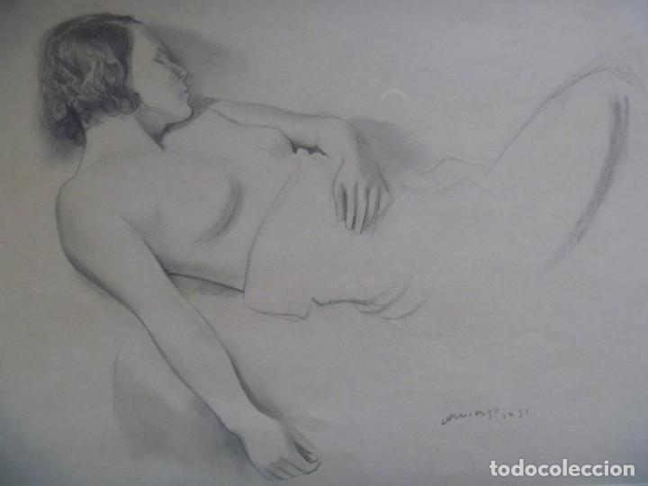 Arte: TORSO MUJER DESNUDA GRAN DIBUJO FRANCESC DOMINGO SEGURA - Foto 8 - 207793525
