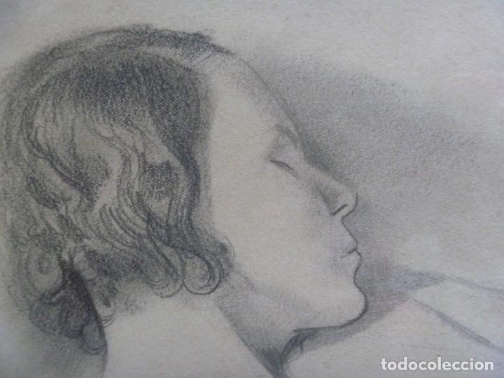 Arte: TORSO MUJER DESNUDA GRAN DIBUJO FRANCESC DOMINGO SEGURA - Foto 10 - 207793525