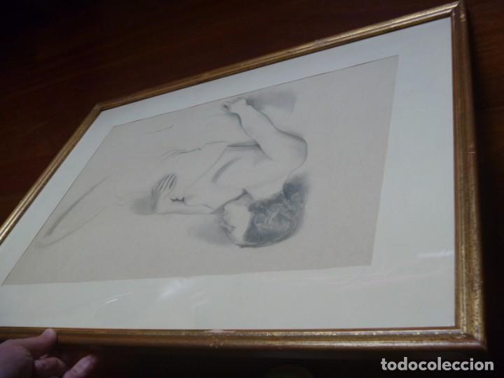 Arte: TORSO MUJER DESNUDA GRAN DIBUJO FRANCESC DOMINGO SEGURA - Foto 16 - 207793525