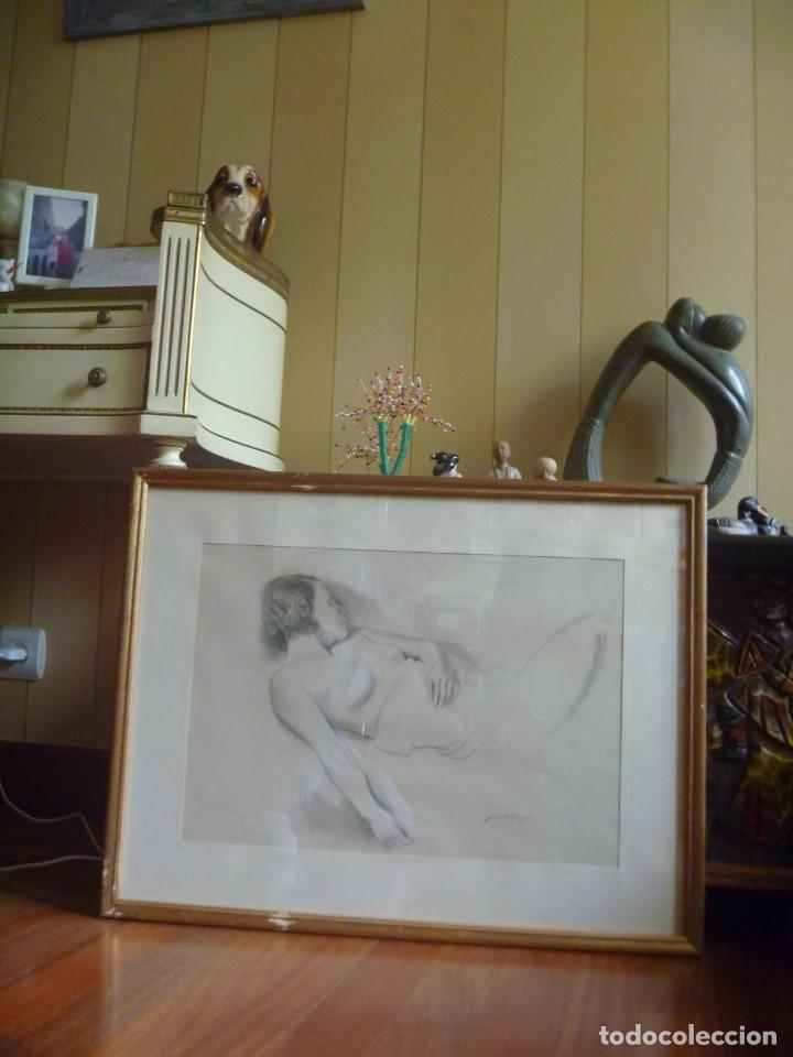 Arte: TORSO MUJER DESNUDA GRAN DIBUJO FRANCESC DOMINGO SEGURA - Foto 17 - 207793525