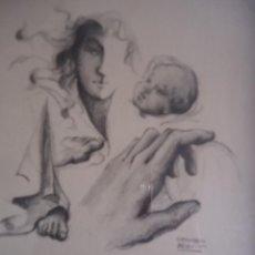 Arte: GREGORIO BLANCO. ESTUDIOS. OBRA ORIGINAL. LAPIZ SOBRE PAPEL. 25,5 X 20 CMS.. Lote 207860157