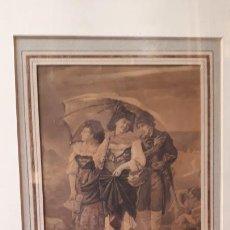 Arte: DIBUJO A LA ACUARELA.ANÓNIMO SIGLO XVIII.. Lote 207975102