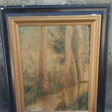 Arte: OLEO SOBRE TABLA JOSEP BERGA BOADA 1872-1923 FIRMADO .MIDE CON MARCO 45.5X37 SIN MARCO 34X26. Lote 208057576