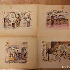 Arte: CESC, PLANCHA DE IMPRENTA ORIGINAL, CUATRO DIBUJOS PARA EL PERIÓDICO AVUI, 64X49 CM. Lote 244452705