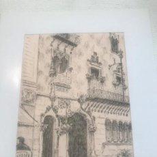 Arte: DIBUJO A TINTA DE LA CASA BATLLO DE GAUDÍ.. Lote 209080800