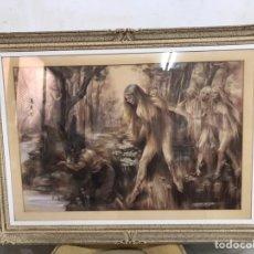 Arte: DIBUJO AL PASTEL FIRMADO POR MONTSERRAT BARTA. Lote 209198235