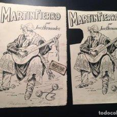 Arte: DIBUJO ORIGINAL A TINTA PARA REALIZAR EL LIBRO MARTIN FIERRO POR JOSÉ HERNANDEZ + PRUEBA DE IMPRENTA. Lote 209202108