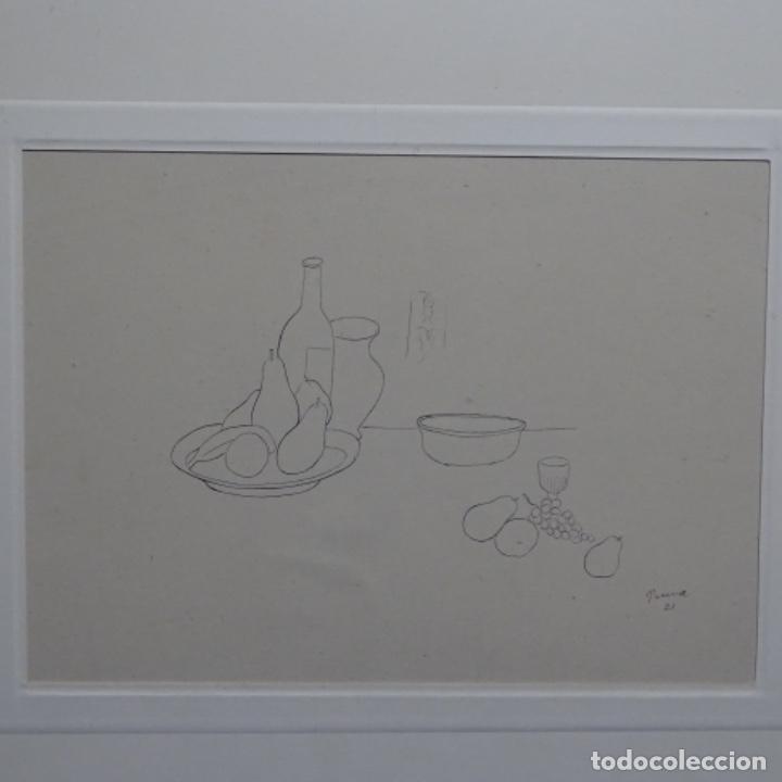 EXCELENTE DIBUJO NOUCENTISTA DE PERE PRUNA A PLUMÍN.AÑO 1921. (Arte - Dibujos - Contemporáneos siglo XX)