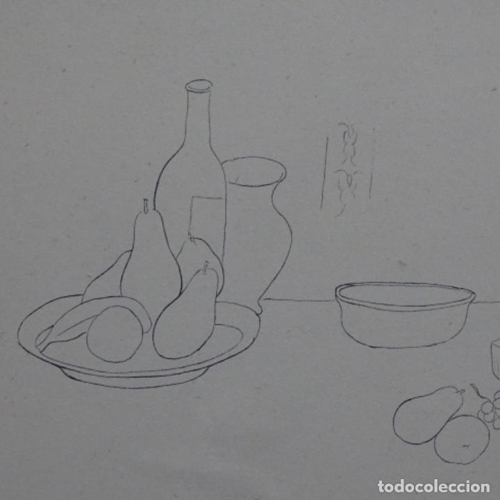 Arte: Excelente Dibujo noucentista de Pere pruna a plumín.año 1921. - Foto 3 - 209216393