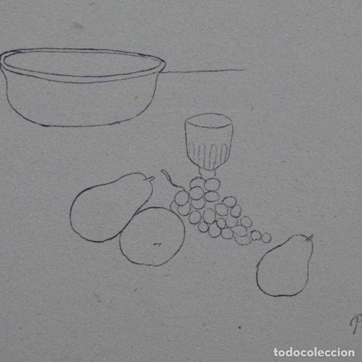 Arte: Excelente Dibujo noucentista de Pere pruna a plumín.año 1921. - Foto 4 - 209216393