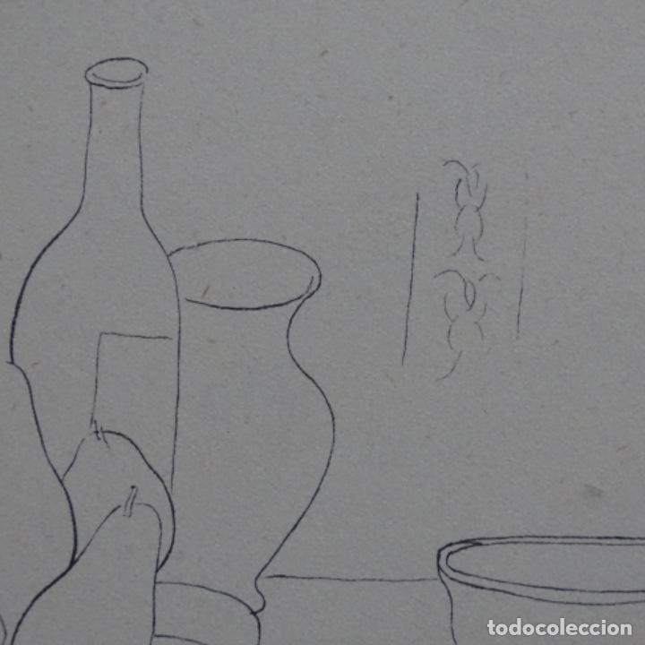 Arte: Excelente Dibujo noucentista de Pere pruna a plumín.año 1921. - Foto 5 - 209216393