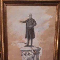 Arte: MANUEL ALCAZAR 1858-1914 DIBUJO.. Lote 209345301