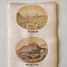 Arte: EXCELENTE LOTE DE TRES DIBUJOS ORIGINALES, PPIOS SIGLO XIX CIRCA 1810, MINIATURA, DETALLE, CALIDAD. Lote 209422343