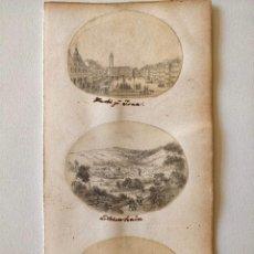 Arte: EXCELENTE LOTE DE TRES DIBUJOS ORIGINALES, PPIOS SIGLO XIX CIRCA 1810, MINIATURA, DETALLE, CALIDAD. Lote 209423101