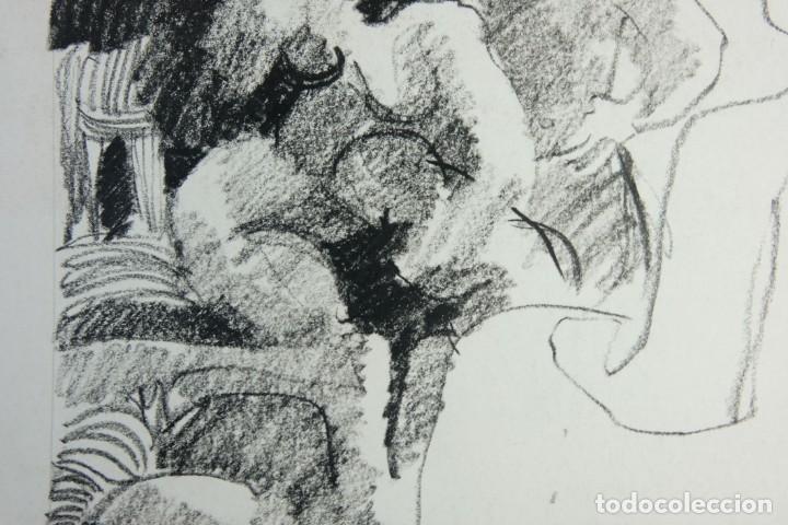 Arte: Jordi Casacuberta Dibujo cera Escena personajes 1975 Firmado - Foto 5 - 209799521
