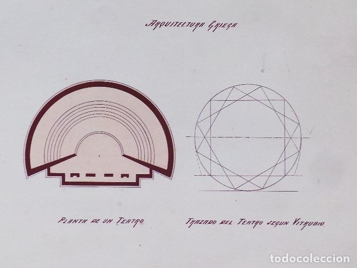 Arte: ALBUM DE DIBUJOS ARQUITECTÓNICOS POR MANUEL VILADOMAT FRENO. BARCELONA. 1890. EN TINTA Y ACUARELA - Foto 8 - 209865366