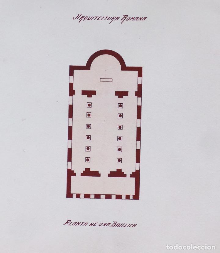Arte: ALBUM DE DIBUJOS ARQUITECTÓNICOS POR MANUEL VILADOMAT FRENO. BARCELONA. 1890. EN TINTA Y ACUARELA - Foto 18 - 209865366