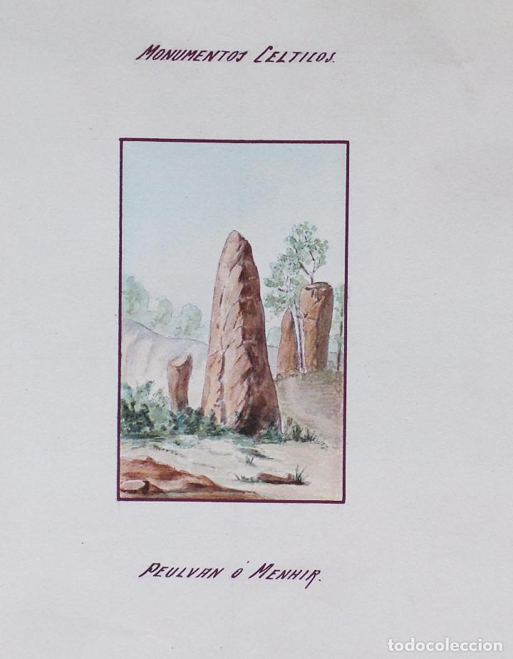 Arte: ALBUM DE DIBUJOS ARQUITECTÓNICOS POR MANUEL VILADOMAT FRENO. BARCELONA. 1890. EN TINTA Y ACUARELA - Foto 39 - 209865366