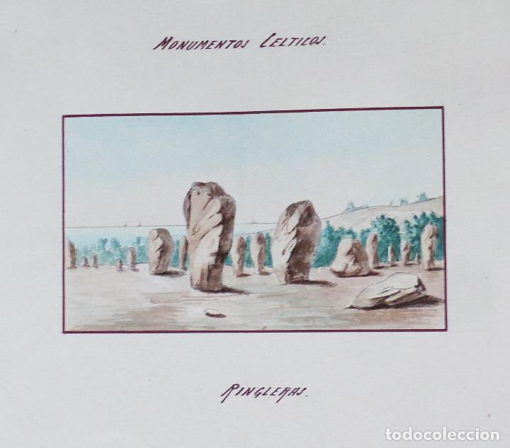 Arte: ALBUM DE DIBUJOS ARQUITECTÓNICOS POR MANUEL VILADOMAT FRENO. BARCELONA. 1890. EN TINTA Y ACUARELA - Foto 40 - 209865366