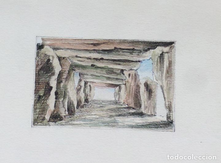 Arte: ALBUM DE DIBUJOS ARQUITECTÓNICOS POR MANUEL VILADOMAT FRENO. BARCELONA. 1890. EN TINTA Y ACUARELA - Foto 43 - 209865366