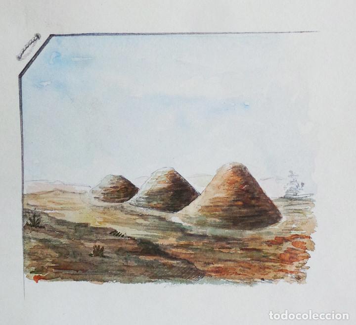 Arte: ALBUM DE DIBUJOS ARQUITECTÓNICOS POR MANUEL VILADOMAT FRENO. BARCELONA. 1890. EN TINTA Y ACUARELA - Foto 46 - 209865366