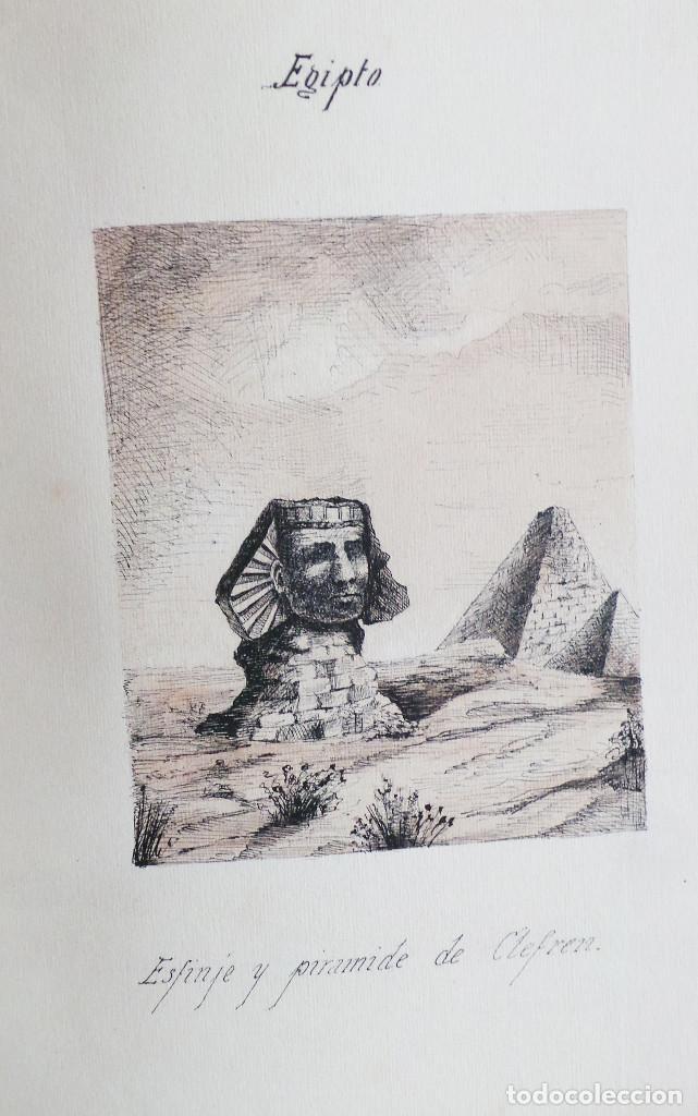 Arte: ALBUM DE DIBUJOS ARQUITECTÓNICOS POR MANUEL VILADOMAT FRENO. BARCELONA. 1890. EN TINTA Y ACUARELA - Foto 51 - 209865366
