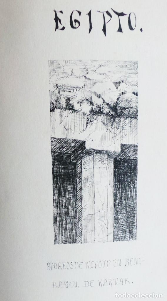 Arte: ALBUM DE DIBUJOS ARQUITECTÓNICOS POR MANUEL VILADOMAT FRENO. BARCELONA. 1890. EN TINTA Y ACUARELA - Foto 53 - 209865366