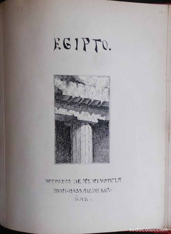 Arte: ALBUM DE DIBUJOS ARQUITECTÓNICOS POR MANUEL VILADOMAT FRENO. BARCELONA. 1890. EN TINTA Y ACUARELA - Foto 54 - 209865366