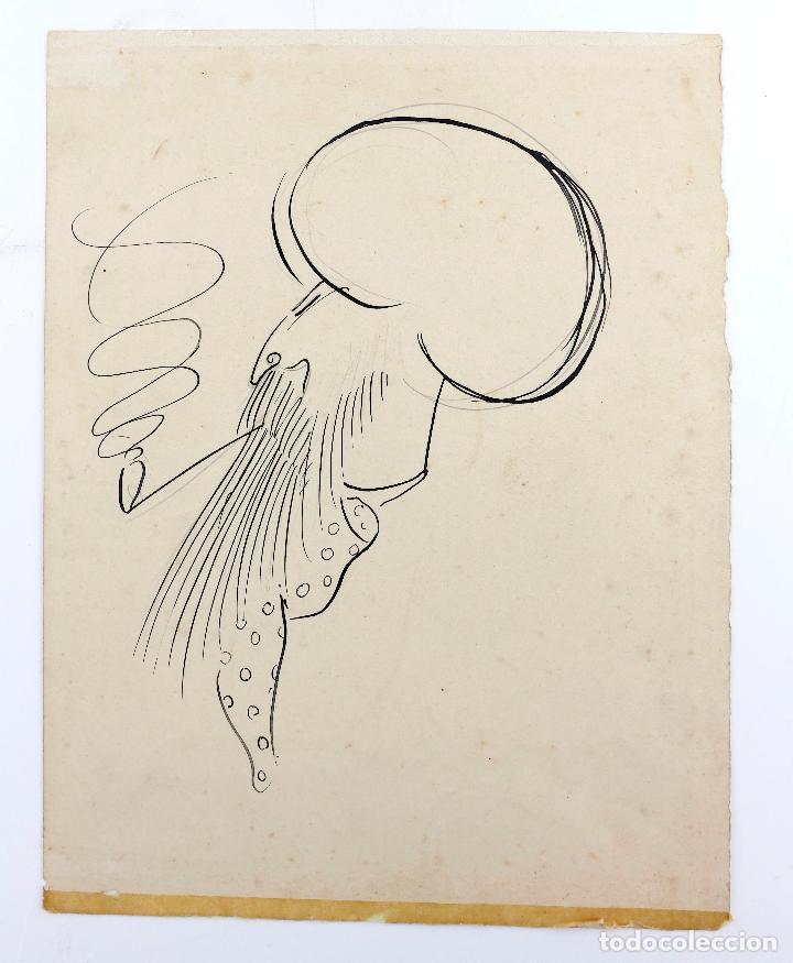 CARICATURAS ÀNGEL GUIMERÀ Y RAMON CASAS, DIBUJOS EN UNA MISMA CARTULINA, ATRIBUIDO A LLUIS BAGARIA. (Arte - Dibujos - Contemporáneos siglo XX)