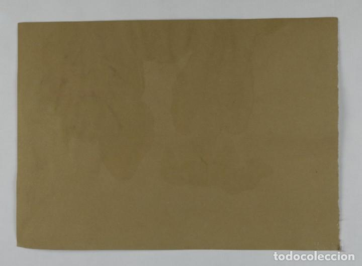 Arte: Ceras y gouache sobre papel Paisaje camino con árboles mediados siglo XX - Foto 7 - 210145888
