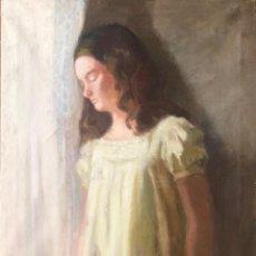 Arte: PASCUAL BUENO FERRER (1930-) - RETRATO FEMENINO, NIEVES - ÓLEO LIENZO. Lote 210146123