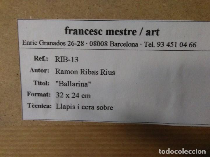 Arte: Ramon Ribas Rius. Dibujo original. Bailarina - Foto 3 - 210218216